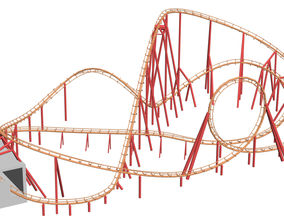 double loop coaster 3D