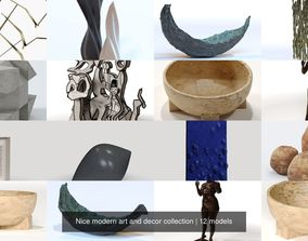 Nice modern art and decor collection 3D