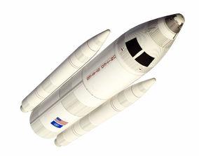 3D model low-poly Rocket