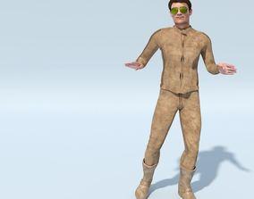 3D model Matured Man - Gristov in Biker Suit