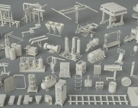 3D model Factory Units-part-4 - 49 pieces
