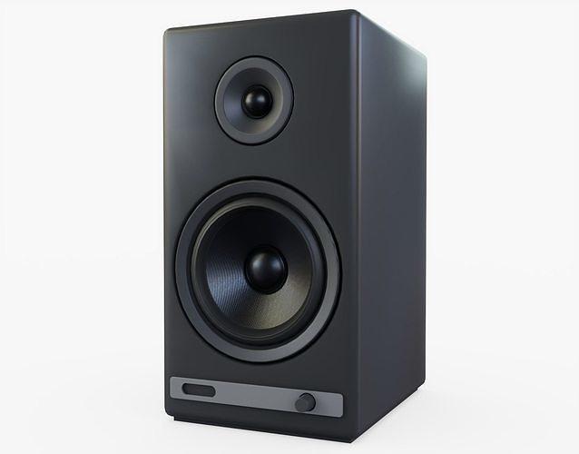 speakers generic 3d model low-poly obj mtl 3ds fbx stl blend 1