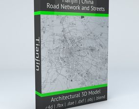 Tianjin Road Network and Streets 3D model