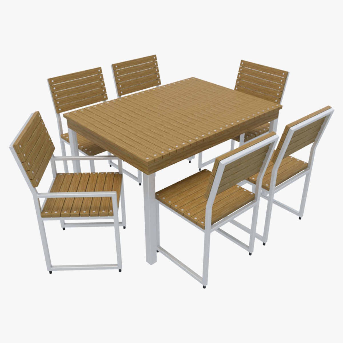 Outdoor furniture 2 3d model max obj 3ds fbx for Outdoor furniture 3d max