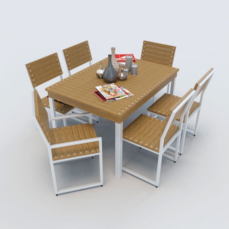 Outdoor Furniture 2 3d Model Max Obj 3ds Fbx