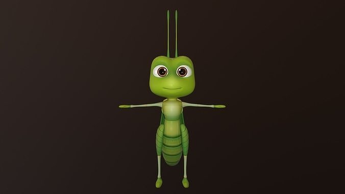 asset - cartoons - character - locust - hight poly - rig 3d model low-poly rigged max obj mtl fbx ma mb hrc xsi tga 1