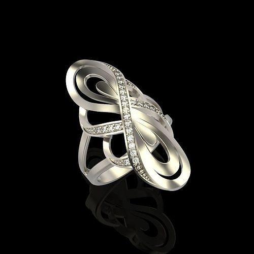 diamond ring design 3d model obj mtl stl 3dm 1