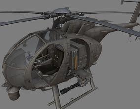3D asset game-ready Boeing AH-6