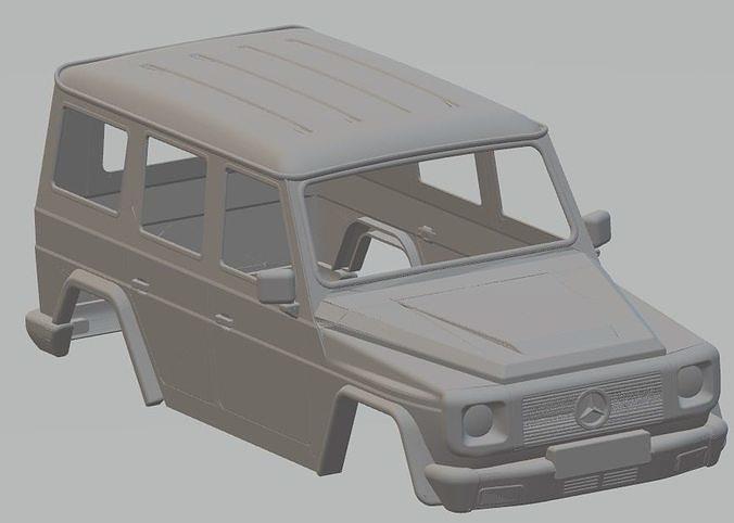mercedes benz g printable body car 3d model max stl 1