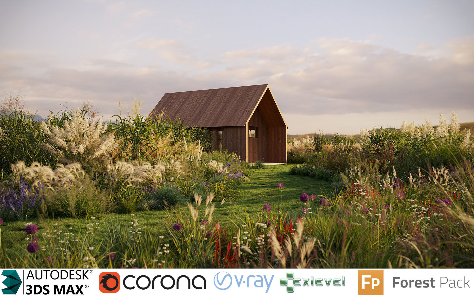 Miscanthus grass collection - Include GrowFX and Mesh file
