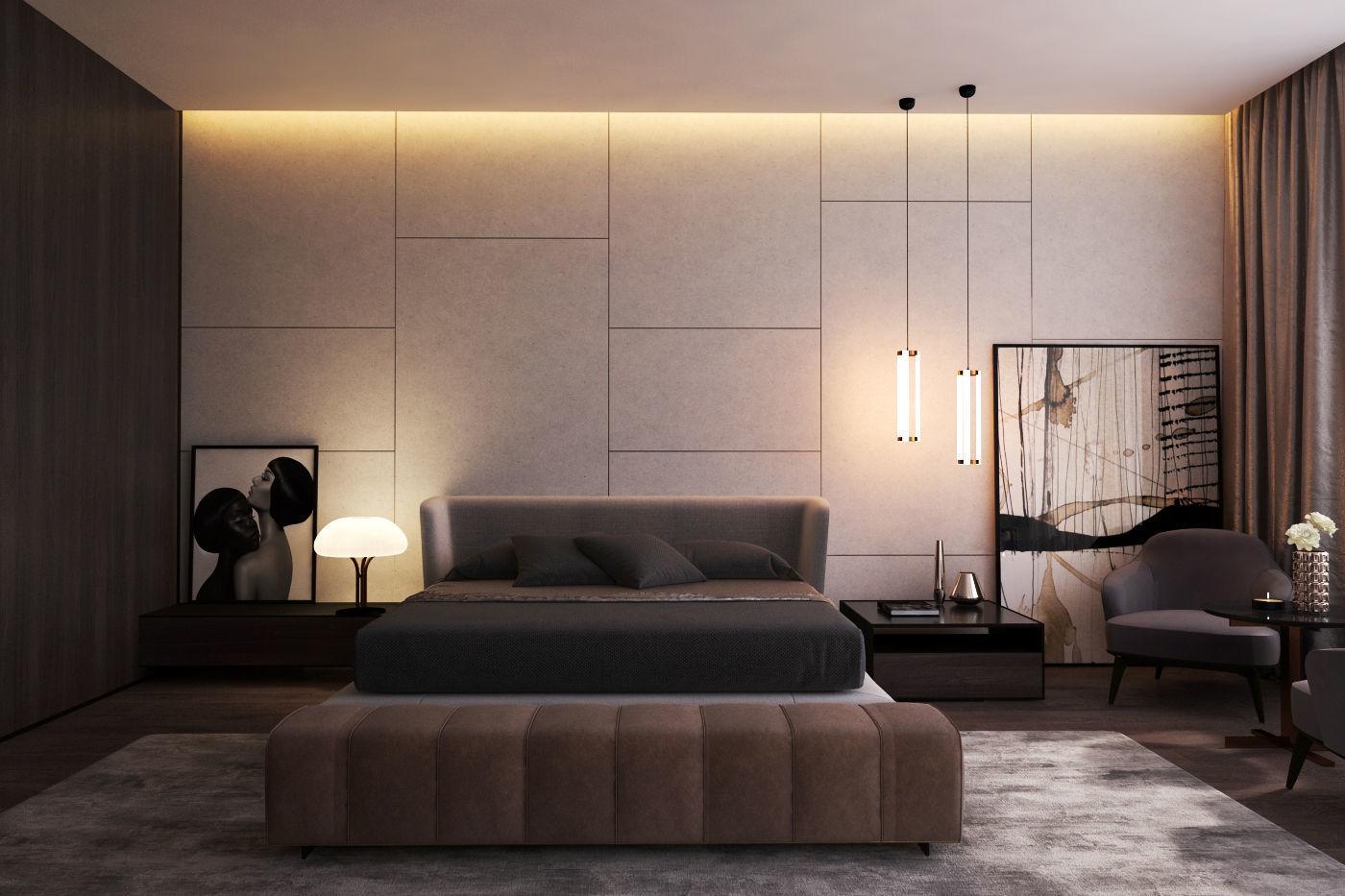 3D model Modern Master Bedroom V | CGTrader
