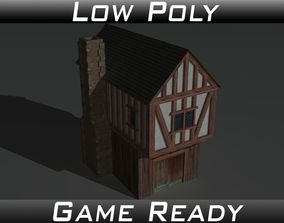 Medieval Building 01 3D model game-ready
