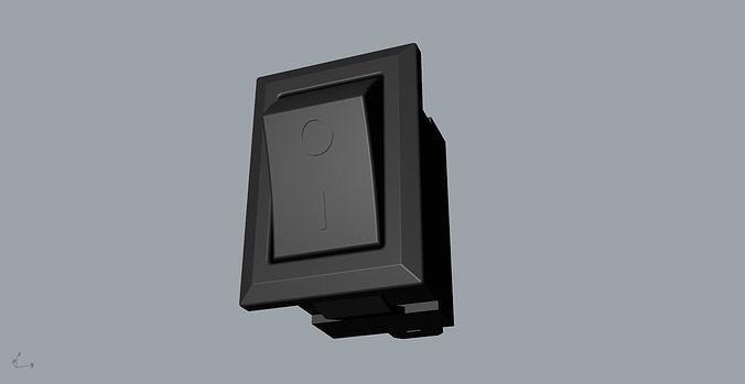 power button switch 3d model 3d model obj mtl 3ds fbx stl 3dm skp 1
