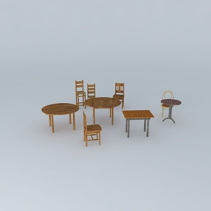 3D model cafe chairs and tables | CGTrader