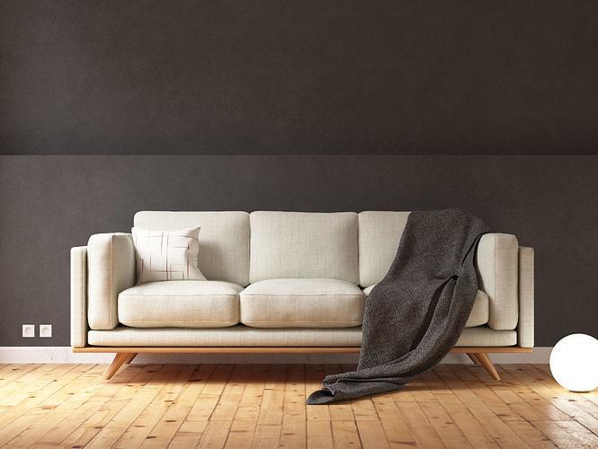 Sofa Scandinavian Style Photorealist
