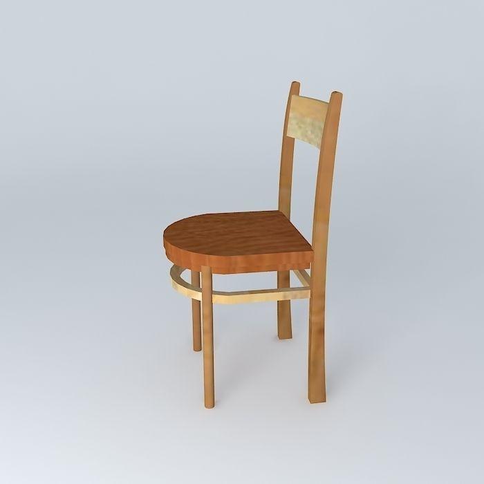 wooden school chair. wooden school chair 3d model max obj 3ds fbx stl dae 2