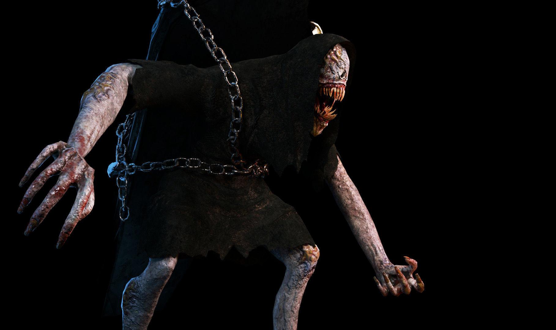 Creature Monster Animated Faceless Gravewalker