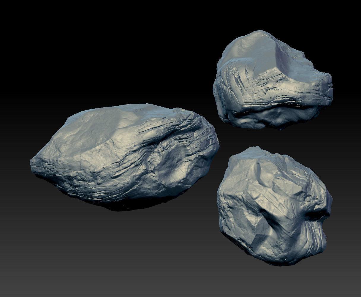 3 big rocks