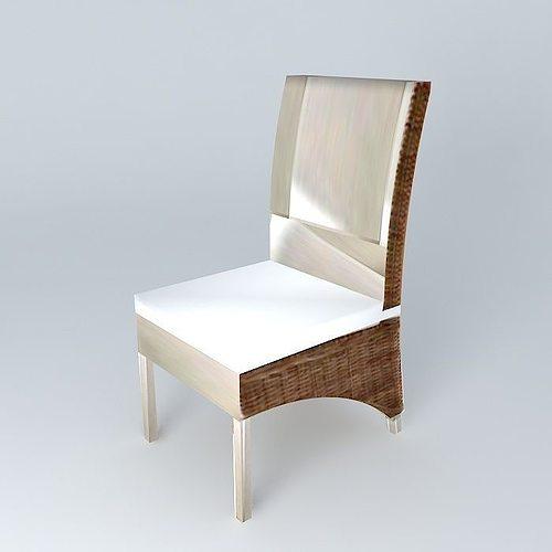 chair key west maisons du monde 3d model max obj mtl 3ds fbx stl dae 1