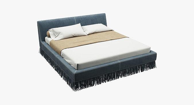 photorealistic bed 014 3d model max obj mtl fbx 1