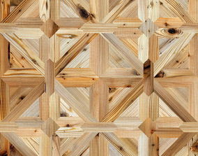 3D Classic pattern parquet of natural wood 3