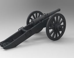war cannon 3d printable model