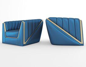 3D model animated Vega Arm Chair