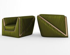 Vega Arm Chair Green 3D asset