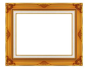 3D model Frame picture gold v2