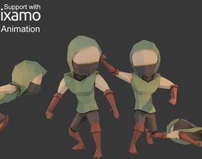 3D asset Assassin Character