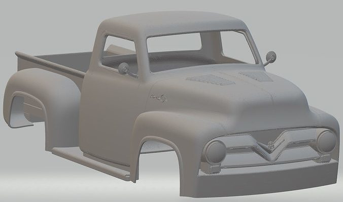 ford f250 printable body truck 3d model max stl 1