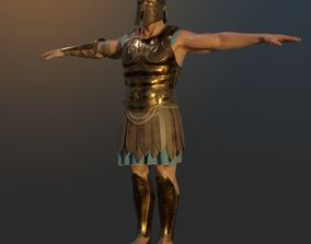 3D Ancient Greek Hoplite Warrior