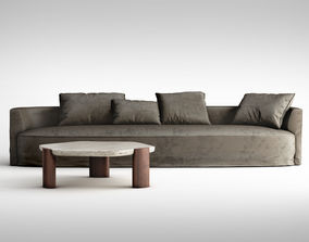 3D Christophe Delcourt Nos sofa and Lob low table