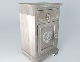 Nightstand CAMILLE houses the world 3D