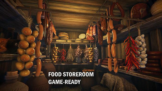 food storeroom 3d model fbx unitypackage prefab uasset 1