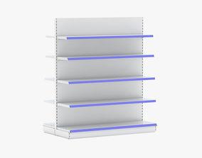 Supermarket Double Shelves 2 3D model