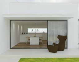 minimalist house 3D model