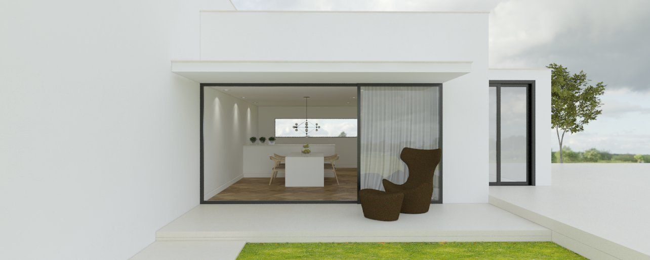minimalist house 3d model skp