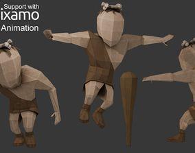 3D model Caveman Character