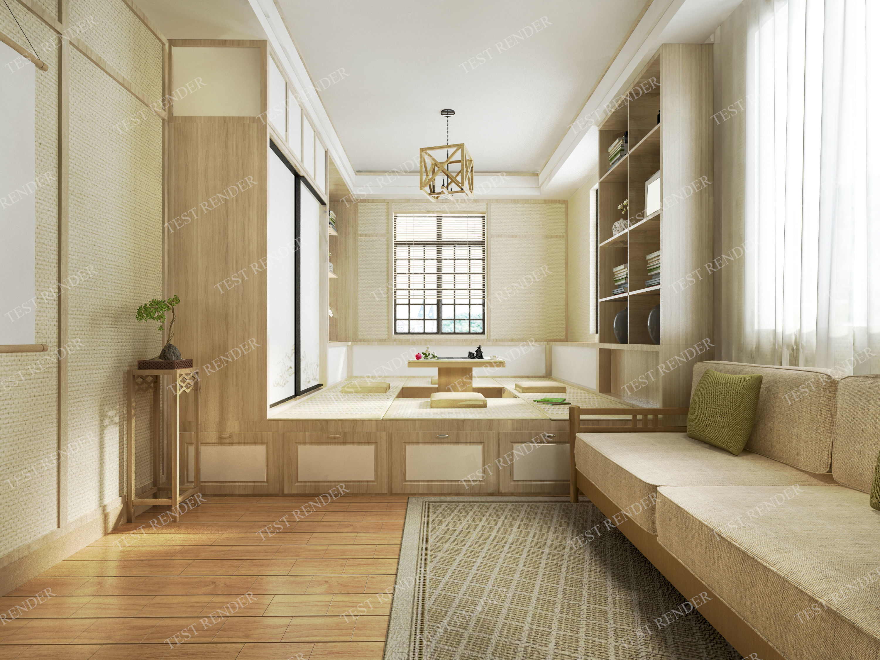 3D model Japanese living room style   CGTrader