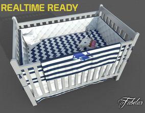 Cot bed 3D asset realtime