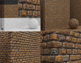 3D Materials seamless - Bricks - Tiles