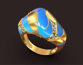3D print model Atoll beach design Coctail ring