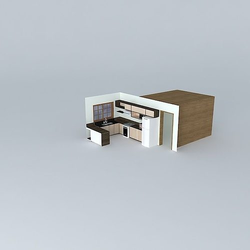 Kitchen Set Sketchup: 3D Model Anderson And Anna Kitchen