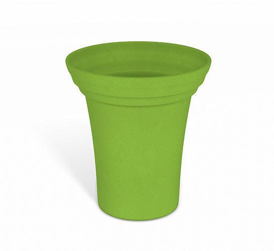 green flower pot 3d model obj mtl 3ds fbx dae 1