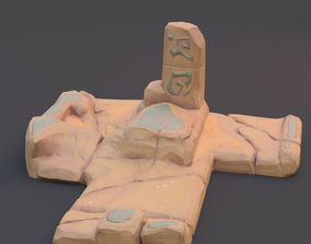 3D model architectural Stone plate