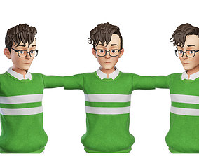 Teen Boy Green 3D