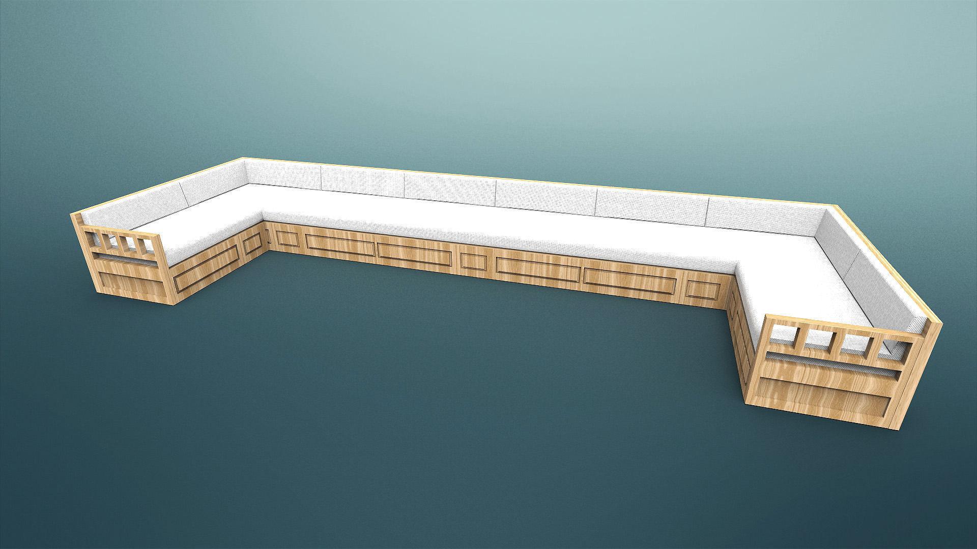 Sofa otantic traditional sark kosesi 3d model obj fbx ma for Divan furniture models