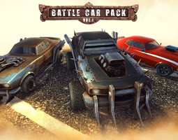 3D asset Battle Car Pack Volume One