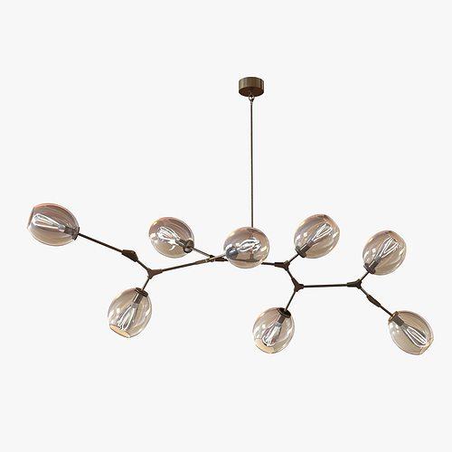 lindsey adelman globe branching bubble chandelier 3d model max obj mtl 3ds fbx 1